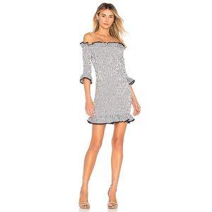 Lovers+Friends Salsita Smocked Ruffle Mini Dress